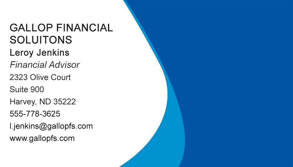 Two blue business cards from 123print for 123print business cards