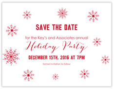 Minty Snowflakes Save The Date