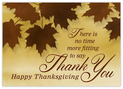 Happy Thanksgiving Thank You - Thanksgiving Postcards from CardsDirect