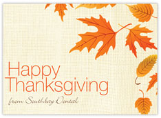 Leafy Front Imprint Thanksgiving