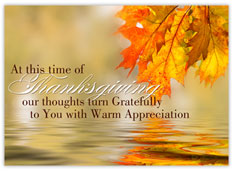 Reflective Thanksgiving Card