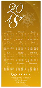 Golden Starburst Calendar