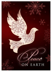 Burgundy Dove of Peace