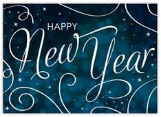 Swirly Blue New Year