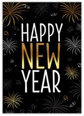 Golden Fireworks New Year