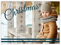 Navy & White Striped Christmas