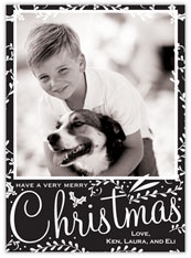 Black & White Christmas Border