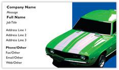 Green and White Camaro