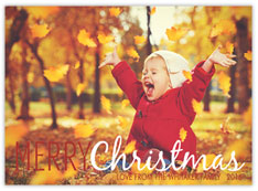 Crimson and Gold Photo Card