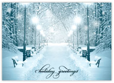 Snow Filled Path of Greetings