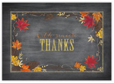 Chalkboard Leaves Thanksgiving Card