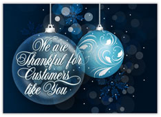 Bubbly Ornaments of Thanks