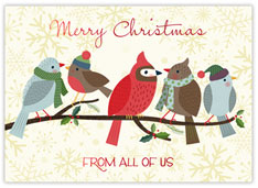 Christmas Wrens and Cardinals