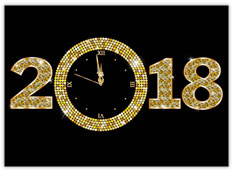 Tick Tock New Year Clock