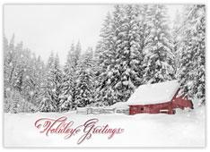 Sparkling Barn Snowscene