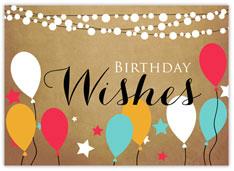 Posh Party Birthday Card