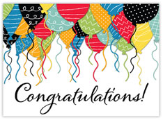 Patterened Balloon Congratulations Card