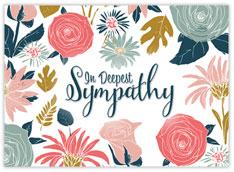 Flower Garden of Sympathy Card