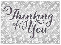 Silver Thinking Of You Card