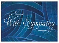 Deep Blue Sympathy Card