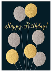 Metallics Birthday Card