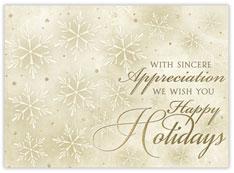 Golden Snowflakes of Appreciation