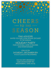 Teal Confetti Cheers Invitation