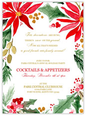 Painted Poinsettia Invitation