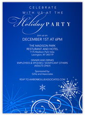 Swirly Snowflake Invitation