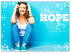Peace, Hope, Joy, Snow