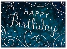 Swirly Blue Birthday