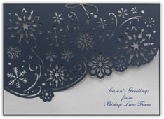 Swirling Snowflakes Holiday Card