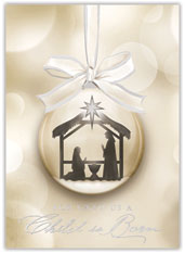 Religious Ornament Christmas Card