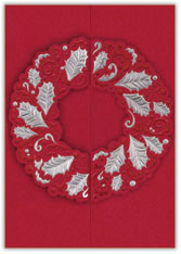 Red Wreath Display