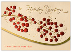 Holiday Berry Greetings Card