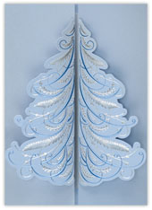 Silver & Blue Whimsical Tree
