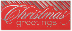 Striped Greetings Holiday Card