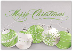 Green Ornament Christmas Card