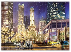 Chicago in the Winter Holiday Card