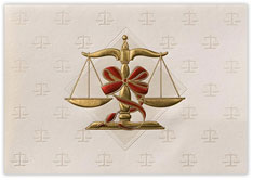 Scales of Justice Holiday Card