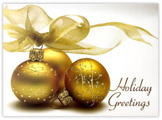 Gold Holiday Bulbs