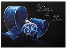 Blue & Silver Ornament