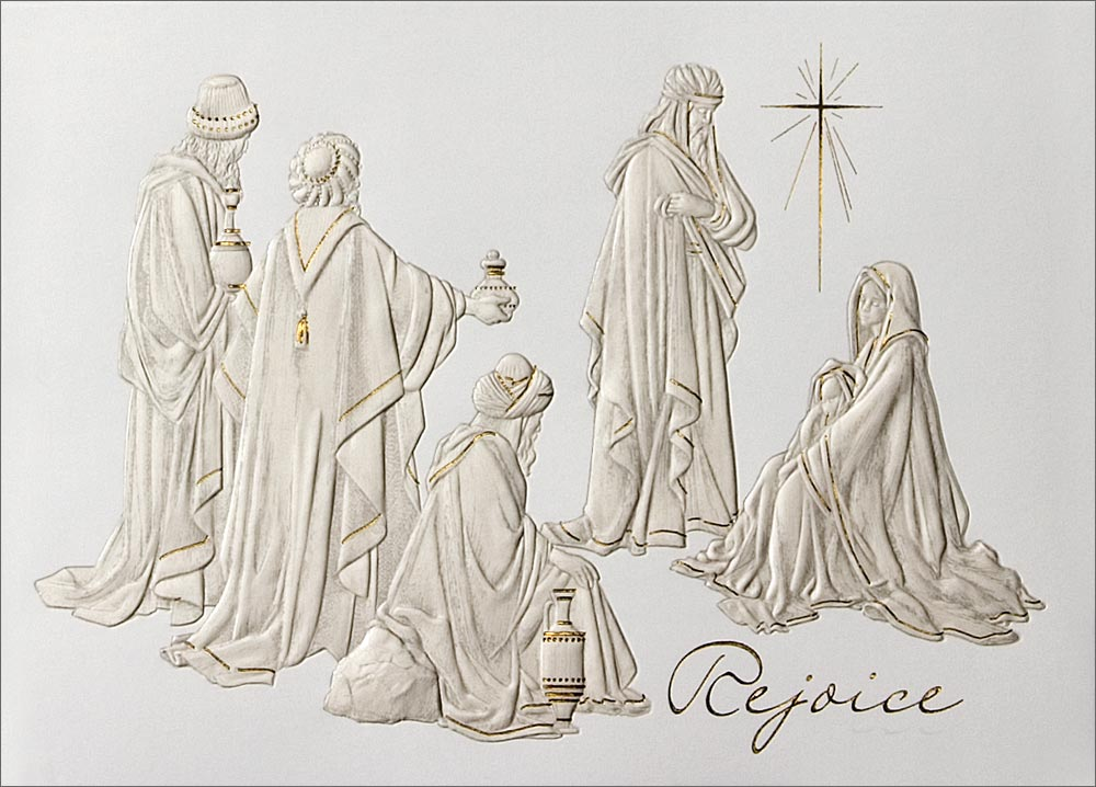 Wisemen with Holy Family - Nativity from CardsDirect