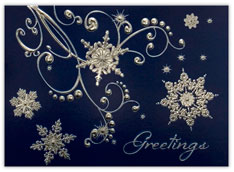 Striking Silver Snowflakes
