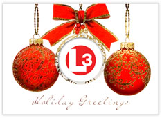 Red, Pearl and Gold Logo Ornaments