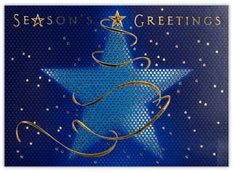 Ribbon Wrapped Star Holiday Card