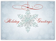 Iridescent Snowflake Ornament Holiday Card