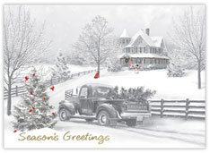 Vintage Ride Holiday Card