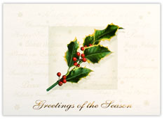 Holly and Berries Holiday Card
