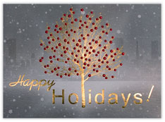 Gold Foil Tree Holiday Card